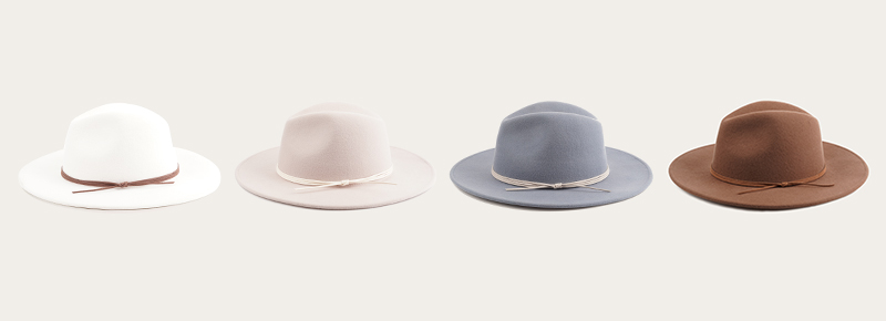 kinds of fedora color