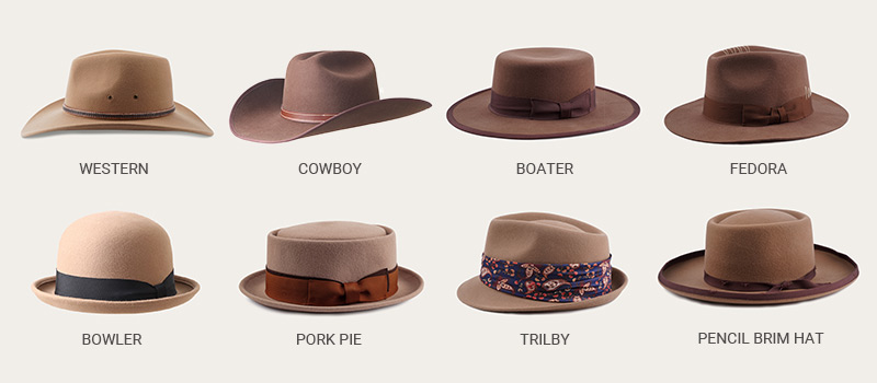 kinds of fedora hat styles