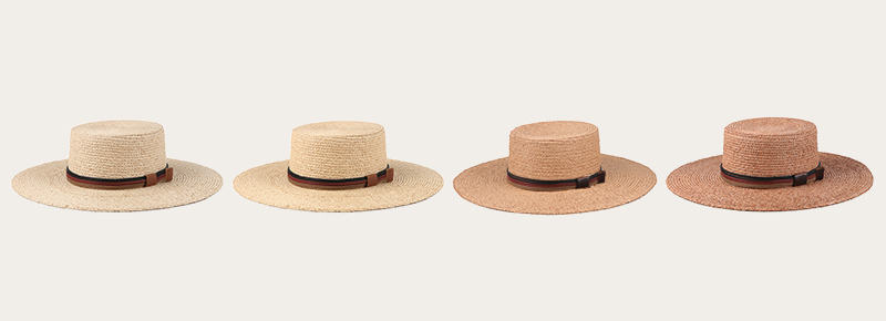 kinds of straw hat colors