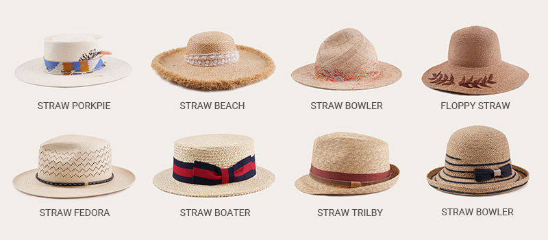 kinds of straw hat styles