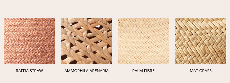 kinds of straw hat fabric
