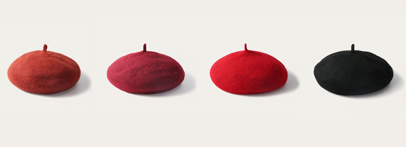 kinds of beret hat color
