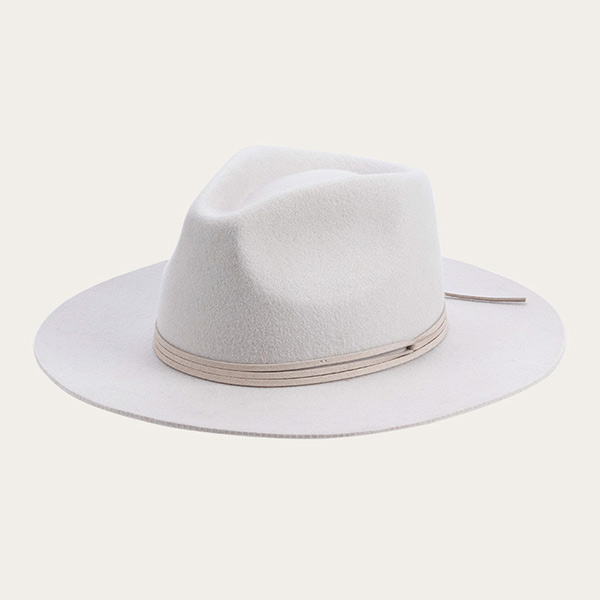 Custom Womens Off White Fedora Wool Felt Hat For Your Head