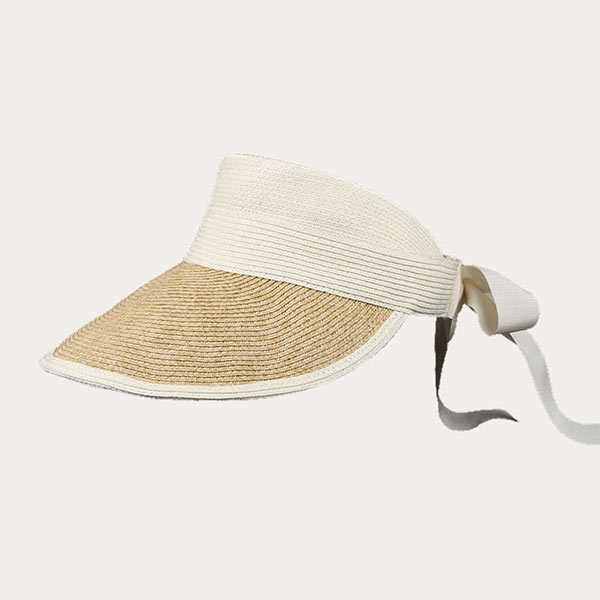Straw Visor Hat Wide Brim Packable Paper Straw Braid Clip Hat