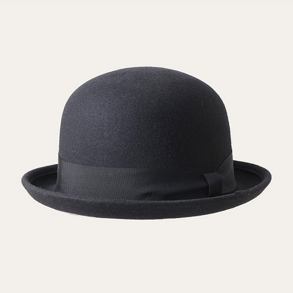 Wool Black Bowler Hat With Black Hatband For Mens & Womens