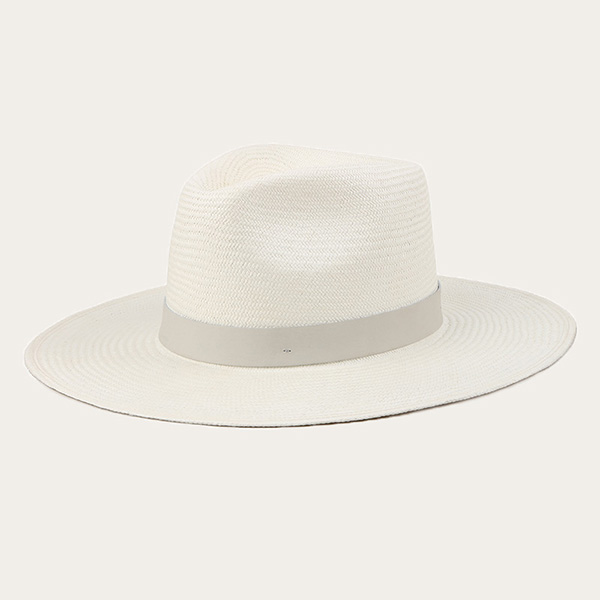 Mens Straw Panama Hat Wide Brim White Straw Fedora Hat