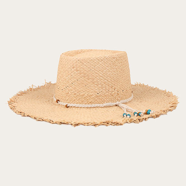 Mens Straw Beach Hat Raffia Straw Wide Brim Sun Hat