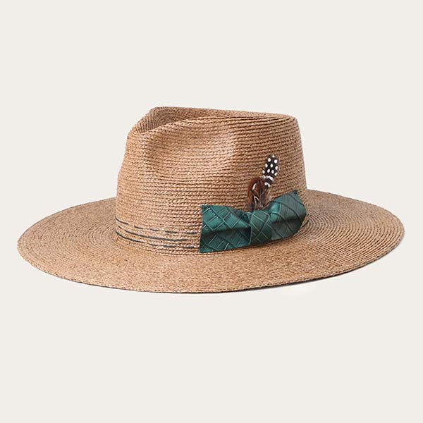 Mens Summer Straw Fedora Hats With Feather For Sun Protection