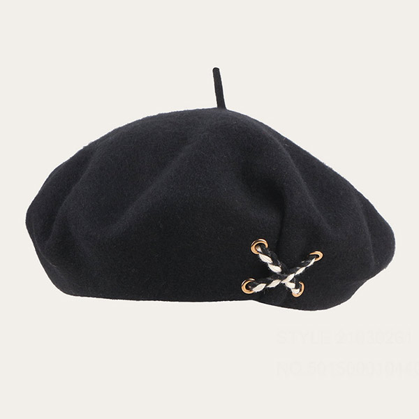 Black Wool Beret Classic French 100% Wool Beret For Men & Women