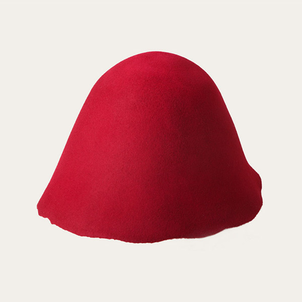 Unblocked Wool Felt Hat Bodies Cones Hood