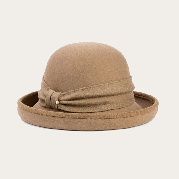 Cute Fedora Hats For Women Khaki Bowler Hat